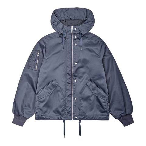 Hunter Women's Navy Refined Drawstring Bomber