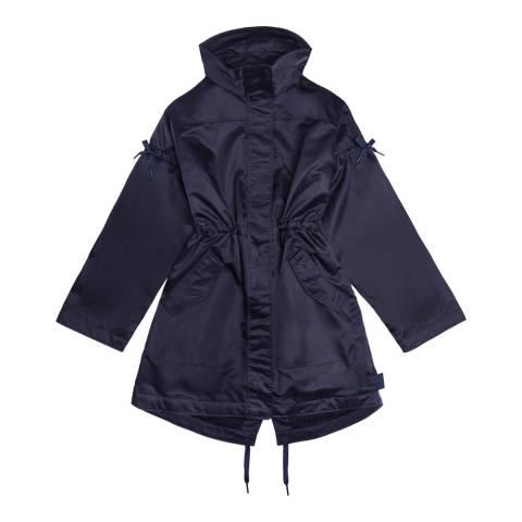 Hunter Women's Navy Original Refined Drawstring Coat