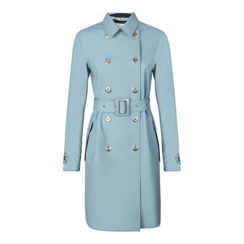 Hunter Women's Light Blue Refined Perforated Trench Coat