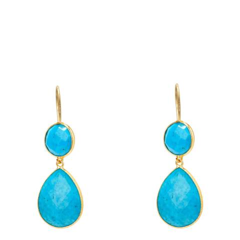 Liv Oliver Turquoise Drop Earrings