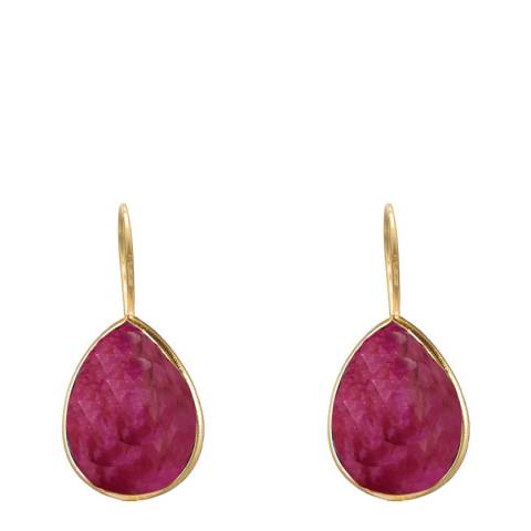 Liv Oliver Ruby Drop Earrings