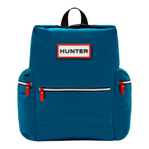 Hunter Blue Top Clip Nylon Backpack