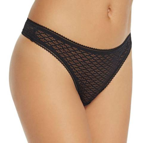 Heidi Klum Intimates Black A Roman Crush Thong