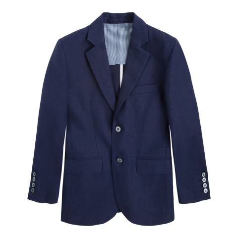 Hackett London Older Navy Linen Blazer