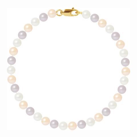 Just Pearl Multi Coloured Pastel Freshwater Pearl Bracelet