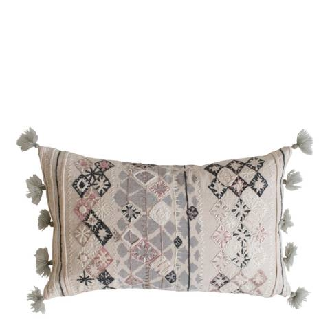 Gallery Nila Embroidered Cushion 30x50cm
