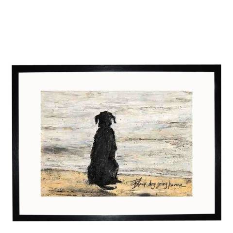 Sam Toft Black Dog Going Home 30x40cm