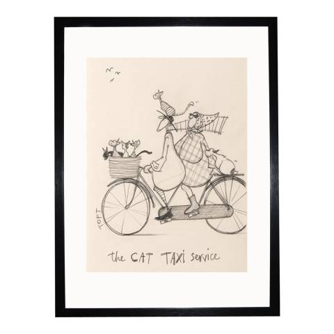 Sam Toft The Cat Taxi Service Sketch 30x40cm