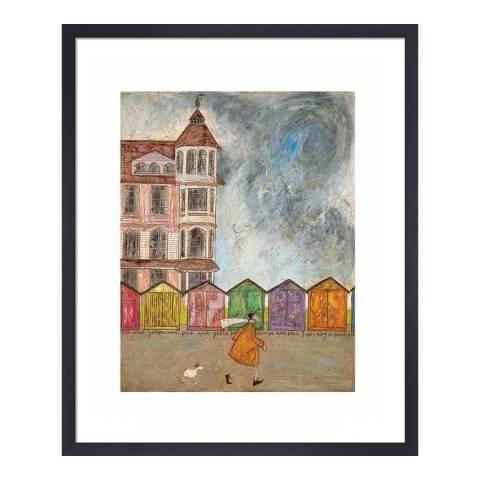 Paragon Prints I Can Sing a Beach Hut Framed Print, 40x50cm