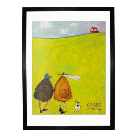Paragon Prints Little Red Caravan on the Hill Framed Print, 30x40cm