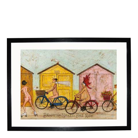 Sam Toft Brighton Naked Bike Ride Framed Print, 30x40cm