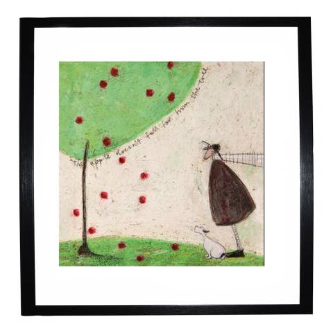 Paragon Prints The Apple Doesnt Fall from the Tree Framed Print, 40x40cm