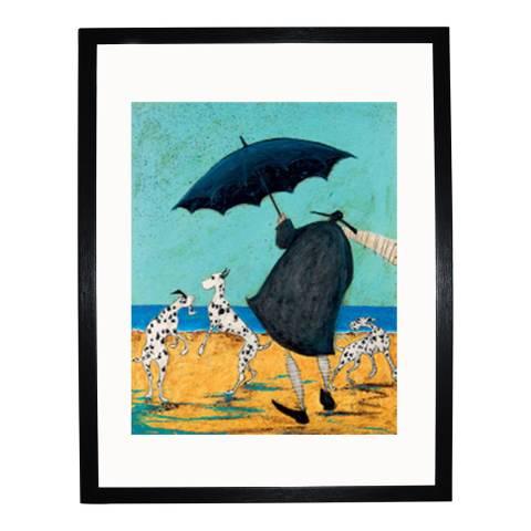 Sam Toft On Jacks Beach Framed Print, 40x50cm