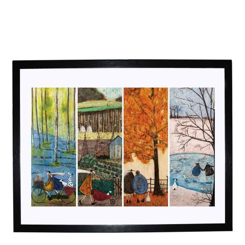 Sam Toft What is Your Favourite Season? Framed Print, 80x60cm