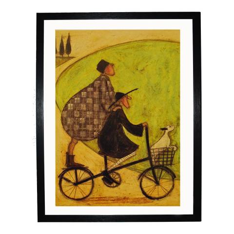 Sam Toft Double Decker Bike Framed Print, 30x40cm