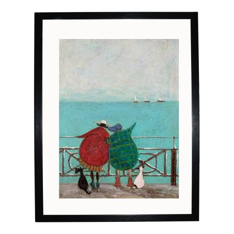 Paragon Prints We Saw Three Ships Come Sailing By Framed Print, 30x40cm