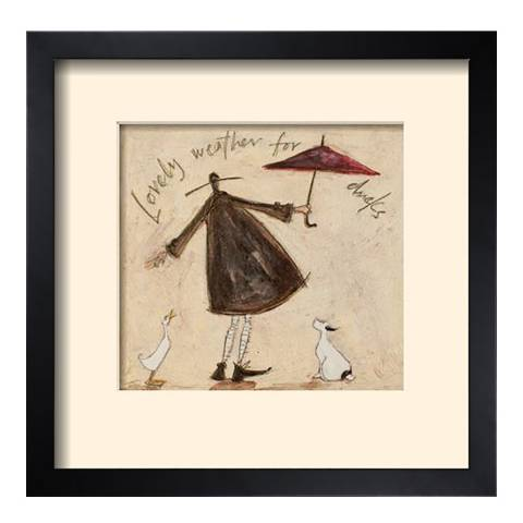 Paragon Prints Lovely Weather for Ducks Framed Print, 33x33cm