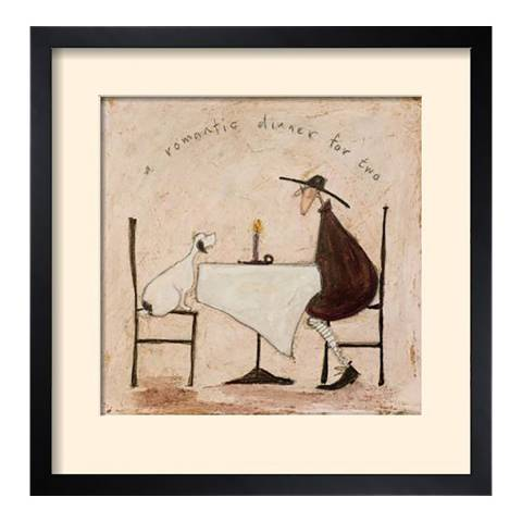 Paragon Prints A Romantic Dinner for Two Framed Print, 43x43cm