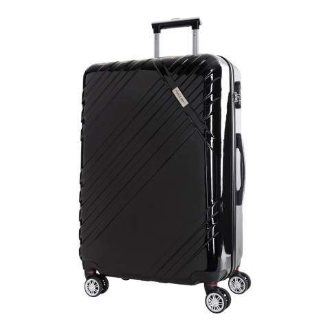 Travel One Black Rosciano 8 Wheeled Suitcase 66cm
