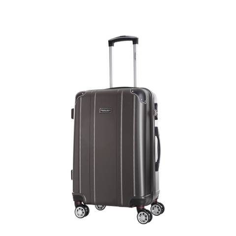 Travel One Silver Bazzano 8 Wheeled Suitcase 46cm