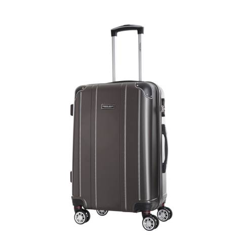 Travel One Charcoal Bazzano 8 Wheeled Suitcase 56cm