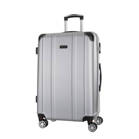 Travel One Silver Bazzano 8 Wheeled Suitcase 56cm