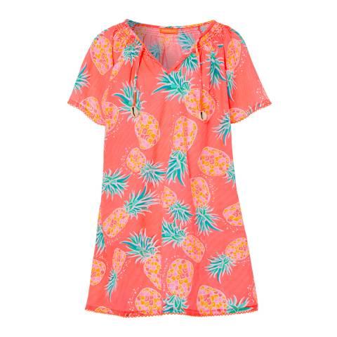 Sunuva Girls Neon Pineapple Kaftan Dress