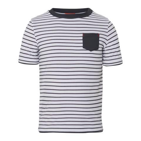 Sunuva Boys Grey Stripe Short Sleeve Rash Vest