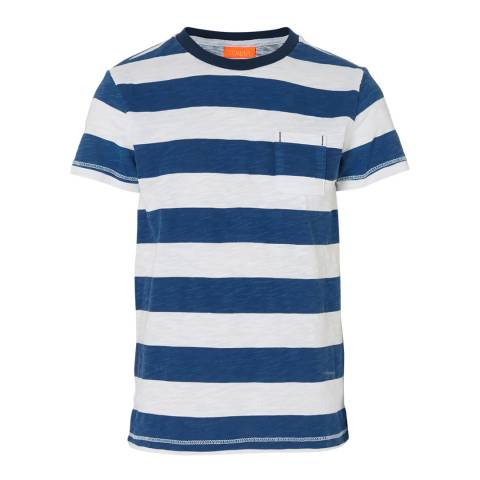Sunuva Boys Navy Marl Stripe T-shirt