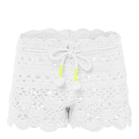 Sunuva Girls White Crochet Short