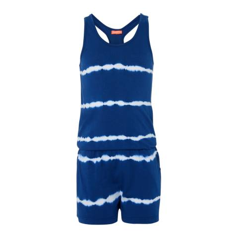 Sunuva Girls Navy Tie Dye Jersey Playsuit