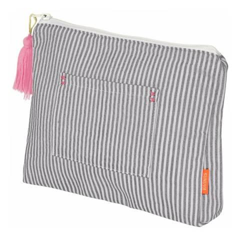 Sunuva Grey Stripe Wash Bag