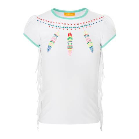 Sunuva Girls Dreamcatcher Short Sleeve Rash Vest