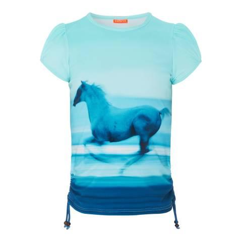 Sunuva Girls Photographic Sunset Blue Short Sleeve Rash Vest
