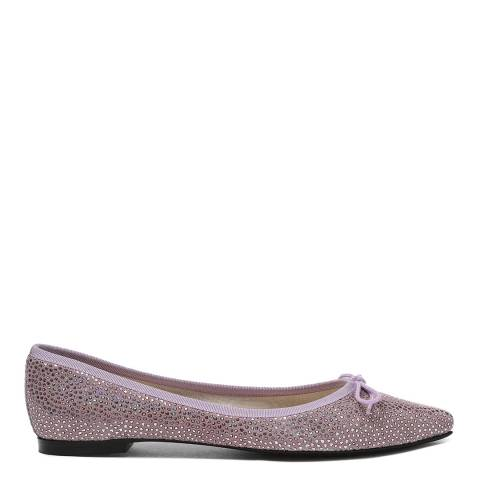 French Sole Purple Suede Foil Penelope Flats