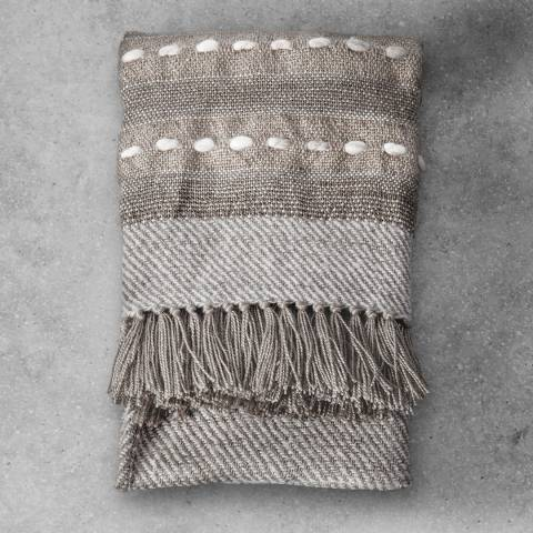 Gallery Nador Natural Hand Embroidered Throw 130x170cm