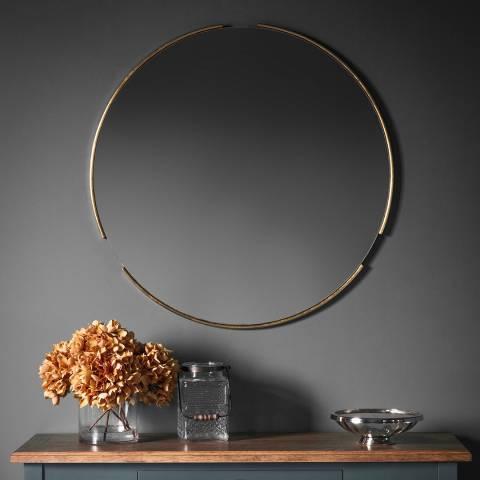 Gallery Gold Fitzroy Round Mirror 80x80cm