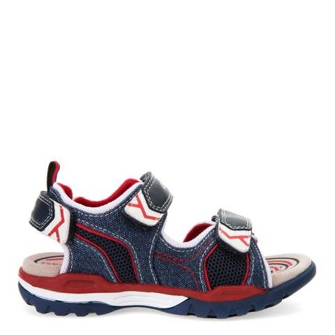 Geox Denim/Red J Borealis Sandals
