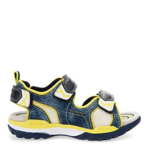 Geox Denim/Yellow J Borealis Sandals