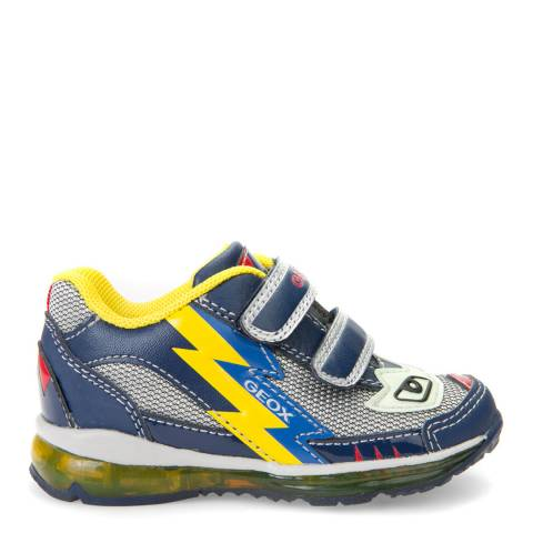 Geox Baby Navy & Yellow Todo Trainer