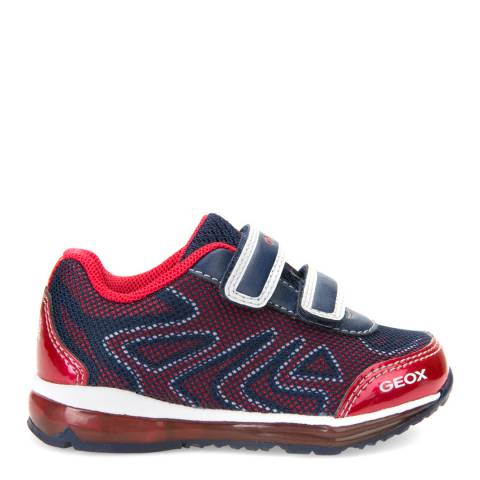 Geox Baby Navy & Red Todo Trainer