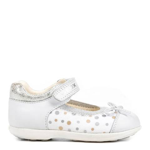 Geox Baby White Polka Jodie Mary Jane