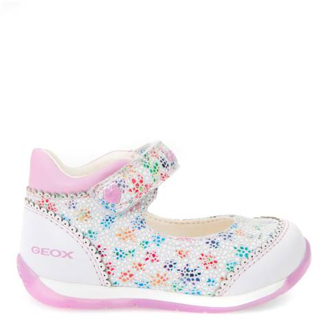 Geox Baby White Multi-Coloured Each Mary Jane