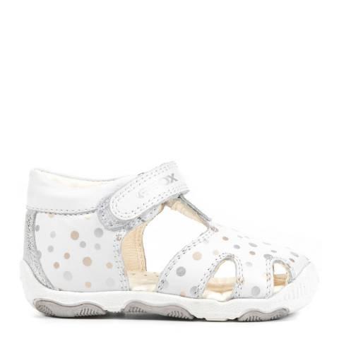 Geox Baby White Polka Balu Sandal
