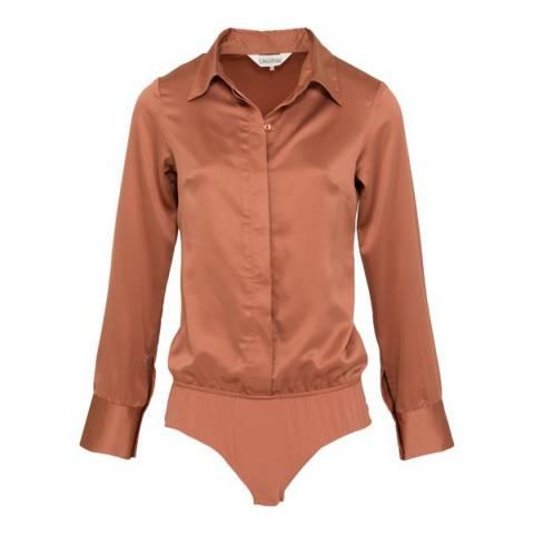 LingaDore Rust Pink Universe Blouse Bodysuit