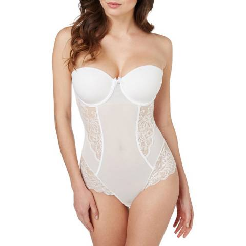 Le Mystere Pearl Sophia Lace Strapless Bodysuit