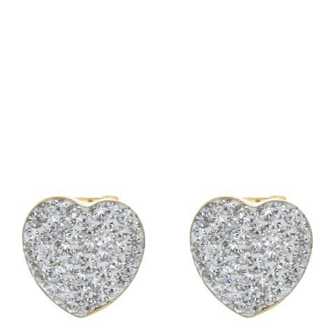 Liv Oliver Silver Heart Earrings