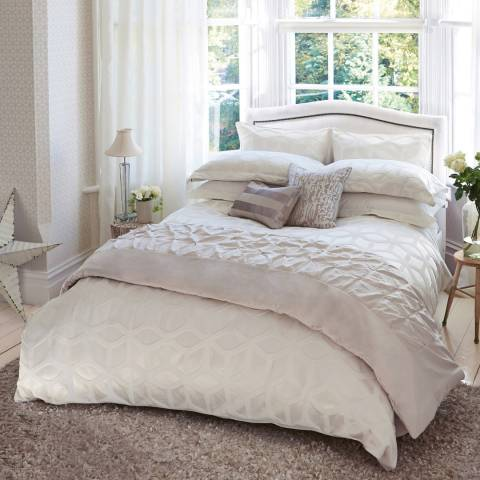 Harlequin Lattice Single Duvet Cover, Chalk