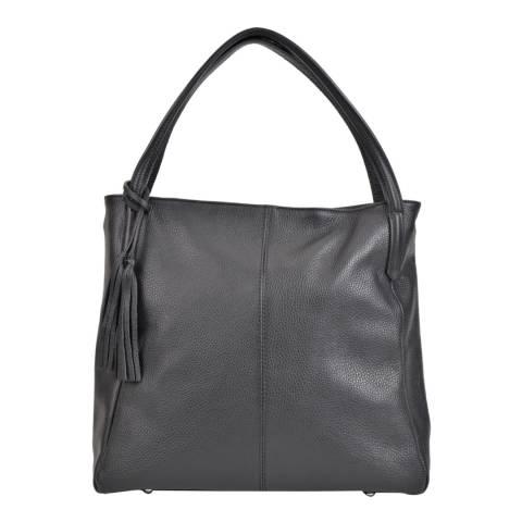 Sofia Cardoni Black Leather Shoulder Bag