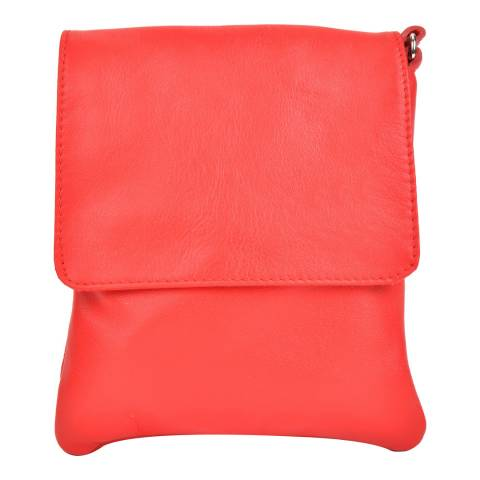 Sofia Cardoni Red Leather Shoulder Bag
